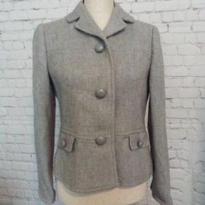 Chic Talbots Light Grey Blazer 8P Petite